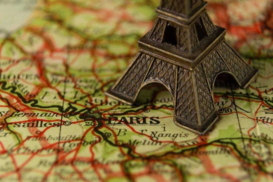 Karte Frankreich