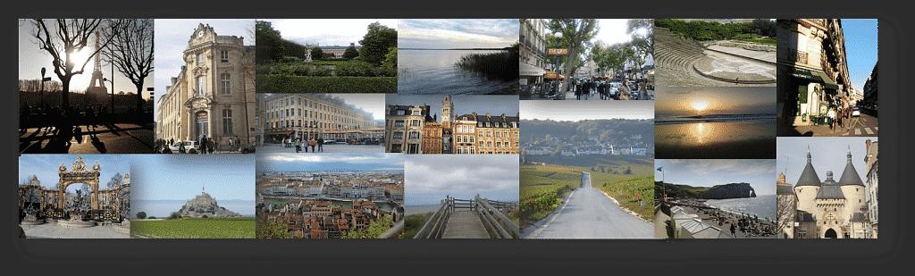 Frankreich Fotos, Collage