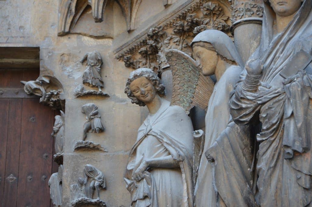 Lächelnder Engel Kathedrale Reims