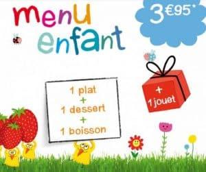 Beispiel Kindermenü Restaurantkette
