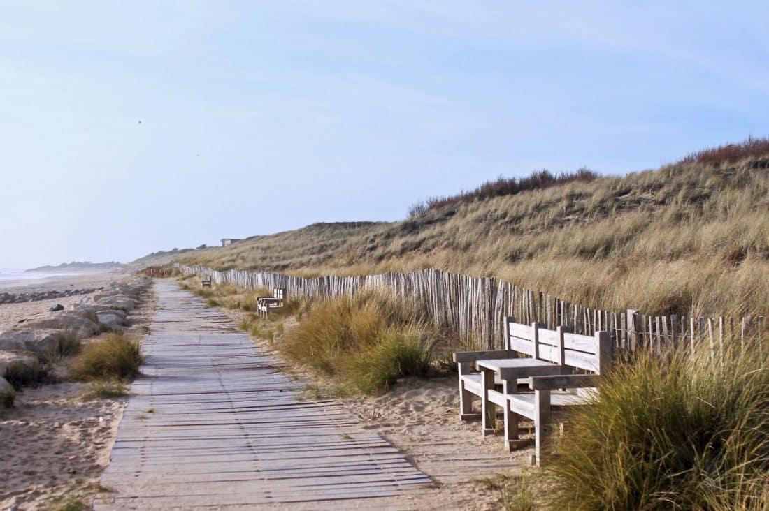 Strandpromenade Ile de Ré Frankreich