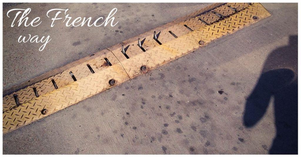 Tankstelle Frankreich - Reifen zerstochen