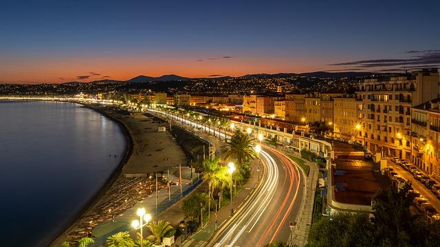 Nizza Südküste Frankreich