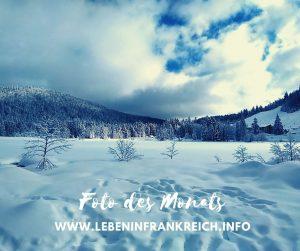 Schneelandschaft, Vogesen Frankreich im Winter