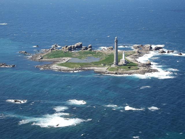 Bretagne Insel und Leuchtturm